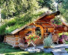 mini homes off the grid - this is a micro and a hobbit in one