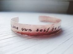 Shakespeare quote handstamped copper cuff hammered by Lolasjewels, $15.00