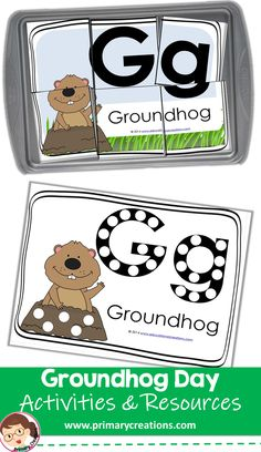 This Groundhog Day preschool activity practices problem solving skills and eye-hand coordination! Preschool Groundhog, Groundhog Day Activities, 3 Year Old Activities, Preschool Winter, Holiday Activities, Preschool Rooms, Preschool Printables, Preschool Crafts, Preschool Activities