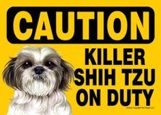Killer Dachshund On Duty Dog Sign Magnet Velcro 5×7 Red