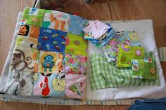 I spy quilt puzzle page. - I did this page on a whim  is by far my LO's favorite page.