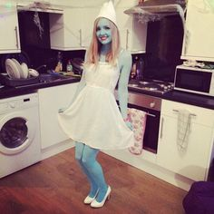 Pin for Later: 16 Ways to Wear a White Dress For Halloween Smurfette