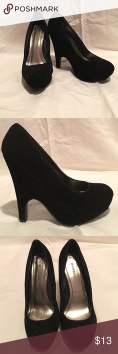 """Black Velvet Heels ✨Size 7.5 ✨5.25"""" Heel BAMBOO® Black Velvet Heels ✨ Only worn once! ✨ Size 7.5 ~ Fits true to size ✨ Additional Photos Always Available! Shoes Heels"""