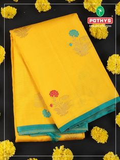 As pooja season started get yourself this bright and alluring shade of yellow Kancheepuram silk saree with the floral patterns that embrace your body. #pothys #ethinicity #silksaree #silkblouse #silksareeblouse #kancheepuramsilksaree #weddingblouse #wedding #bridalsaree #bridal #yellowsaree #navaratri2020 #weddingblouse #sareedesigns #silksareedesigns #designerblouse #designersaree #navaratricollection #sareedesignideas #sareeideas #kancheepuram #blousedesigns #sareetrends