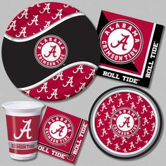 crimson tide plates and stuff..great for football partys for sure