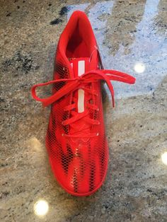 521ad035220 Advertisement(eBay) Adidas F10 TRX INDOOR 2015 Messi Soccer Shoes BLOOD  ORANGE   BLACK