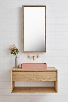 interior goals / best of bathrooms - the white files / millennial pink bathroom / minimalistic bathroom renovation - Bathroom Ideas Diy Bathroom, Bathroom Furniture, Interior, Trendy Bathroom, Bathroom Trends, Bathroom Interior, Pink Bathroom, Bathrooms Remodel, Bathroom Decor
