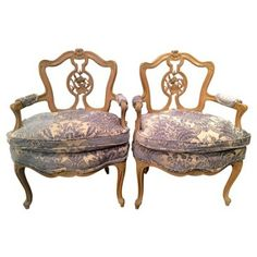 Check out this item at One Kings Lane! French-Style Chairs, C. 1930, Pair