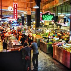 Grand Central Market in Los Angeles, California