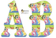 Alfabeto Princesas de Disney.