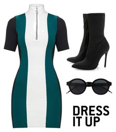 A fashion look from March 2018 featuring emerald green dresses, floral booties and round frame glasses. Browse and shop related looks. Emerald Green Dresses, Boohoo, Boards, Fashion Looks, Short Sleeve Dresses, My Style, Polyvore, Shopping, Planks
