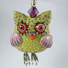 Owl Bead Pendant