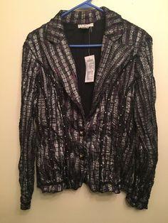 Alberto Makali Blazer Sz XL Vintage Jacket Purple Silver Black Metallic Lace   eBay