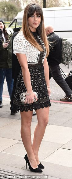 bbf81310cd2 Georgia May Foote stuns as she and Giovanni arrive at TRIC Awards
