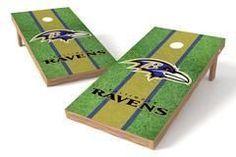 Baltimore Ravens Single Cornhole Board - Field