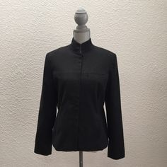 Nine & Company stretch jacket/blazer Nine & Company heather charcoal stretch jacket/blazer. Zip front with raised collar. Lapel pocket and side pockets. Only worn a handful of times. Nine & Company Jackets & Coats Blazers
