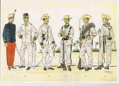 MINIATURAS MILITARES POR ALFONS CÀNOVAS: RECORTES GRAFICOS .-Soldados Españoles en Cuba 1898