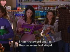 OMG THIS IS ME! Every freaking time someone puts a crossword puzzle in front of me I grimace.