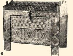 6. Vörös alapon fekete színezéssel (Baranya m., 19. sz. második fele). Pécs, Janus Pannonius Múzeum.