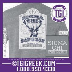 TGI Greek - Dad's Day - Sigma Chi - Comfort Colors - Greek T-shirts  #tgigreek #sigmachi #dadsday