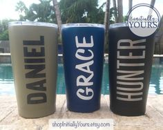 Powder Coated Tumblers SIC by shopInitiallyYours