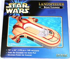 Cruise through the pool as if you were on the planet of Tatooine. This Inflatable Landspeeder will be the hit at your next pool party or public pool gather...