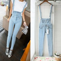 ce97124a4e6 New 2015 Ladies big size bib overalls suspenders Denim denim jeans jumpsuit trousers  female pencil pants for women 7011-in Jeans from Women s Clothing ...