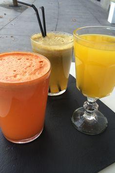 Desayunos sanos y originales para comenzar bien el día. Zumos naturales. © [H]arina. - - -> http://tipsalud.com ✅