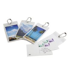 Write your name and address on these Postcard style travel tags, and your luggage will get home safely. 2 cards per pack