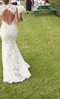 Lace, backless, beautiful.