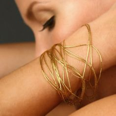 gold silk bracelet, so gorgeous