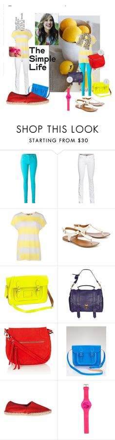 """my yellow stripes top ideas"" by ennayram15 ❤ liked on Polyvore featuring Victoria Beckham, True Religion, Ted Baker, Wallis, J.Crew, Proenza Schouler, Oasis, The Cambridge Satchel Company, Lika Mimika and River Island"