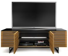 Corridor 8179 in White Oak finish by BDI Wood Furniture, Furniture Design, Home Theater Furniture, Cool Tv Stands, Tv Cabinets, Corridor, Entertainment Center, Adjustable Shelving, Console