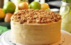 Little Miracles: Just Because Cake Party - Apple Crisp Caramel Cake My Dessert, Dessert Bread, Caramel Apple Crisp, Breakfast Recipes, Dessert Recipes, Egg Dish, Just Cakes, Party Cakes, Granola