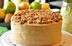 Little Miracles: Just Because Cake Party - Apple Crisp Caramel Cake My Dessert, Dessert Bread, Caramel Apple Crisp, Cake Recipes, Dessert Recipes, Egg Dish, Just Cakes, Party Cakes, Breakfast Recipes