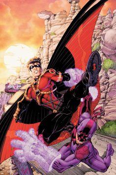 Pencils: Brett Booth Inks: Norm Rapmund Colors: Me © DC Comics Teen Titans 3 CVR Tim Drake Red Robin, Robin Dc, Batman Robin, Dc Heroes, Comic Book Heroes, Comic Books Art, Comic Art, Book Art, Robin Suit