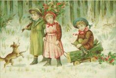 Gratulasjonskort Barnemotiv tidlig 1900-tall