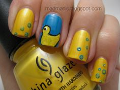 Yellow bubbles and rubber duckies! :)  Kirsten would love if I did this to my nails for a weekend, maybe when I'm on maternity leave for the next #nails
