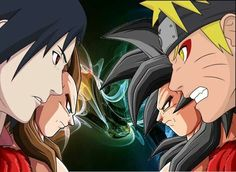 Ultimate tag team matche Sasuke & Vegeta Vs #Goku & #Naruto  #DBZ #DragonballZ