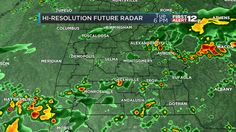 We're headed into another unsettled evening as a weak cold front movesthrough the state. Scattered showers and thunderstorms will impact areas south of I-20 this evening.