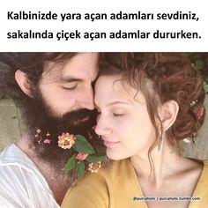 Kalbinizde yara açan adamları sevdiniz, sakalında çiçek açan adamlar dururken.  #sözler #anlamlısözler #güzelsözler #manalısözler #özlüsözler #alıntı #alıntılar #alıntıdır #alıntısözler #şiir #edebiyat