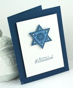 Hannukah card with triangles