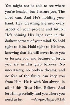 God is holding you.