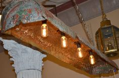Light made from repurposed water heater - Southern Accents Architectural Antiques - www.sa1969.com