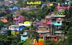 Durante la última jornada de Terrón Coloreado, en Patio Bonito, se hicieron 16 murales, que buscan darle alegría al barrio.