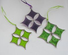 Lime Stained Glass Suncatcher Decorative Ornament Star
