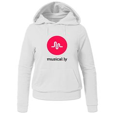 cc4582b6549 Musical.ly Wave Classic For Ladies Womens Hoodies Sweatshirt Pullover