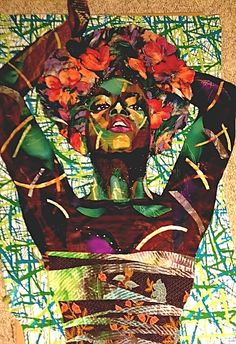 Afrodite by Bisa Butler. (((#Art)))(((#Painting)))
