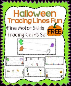These entertaining Halloween activities are excellent for young children as young as 2 years old and preschoolers. It is an excellent product for preschool, but can also be used for your kindergarten student who may need extra fine motor skils