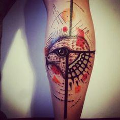 Hawk legtattoo tattoo